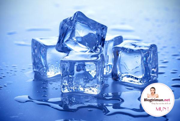 Nước đá giúp trị mụn cưc hiệu quả